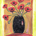 Poppies in Black Poster by Renee Womack