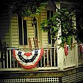 Porch Flag Print by Michael L Kimble