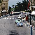 Porsches at Monte Carlo Casino Square Print by John Bowers