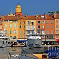 Port of Saint-Tropez in France Poster by Giancarlo Liguori