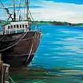 Portland Harbor - Home Again Print by Scott Nelson