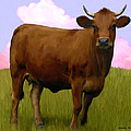 Portrait of a Cow Poster by Snake Jagger