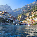 Positano Harbor View Poster by George Oze