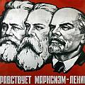 Poster depicting Karl Marx Friedrich Engels and Lenin Poster by Unknown