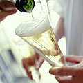 Pouring Champagne Print by David Munns