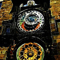Prague Clock Print by Joan  Minchak
