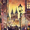 Prague Old Town Squere Poster by Yuriy  Shevchuk