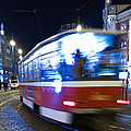 Prague tram Print by Stylianos Kleanthous