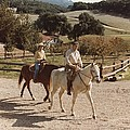 President And Nancy Reagan Horseback Poster by Everett