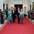 President And Nancy Reagan Walking Poster by Everett