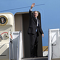 President George Bush Waves Good-bye Print by Stocktrek Images
