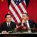 President Obama And Chinese President Poster by Everett
