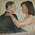 President Obama and First Lady Poster by G CUFFIA