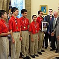 President Obama Greets Mathcounts Poster by Everett