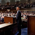 President Obama Is Applauded Poster by Everett