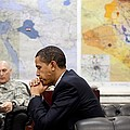 President Obama Meets With Gen. Raymond Print by Everett