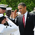 President Obama Salutes A Sailor Poster by Everett