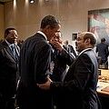 President Obama Talks With Ethiopian Print by Everett