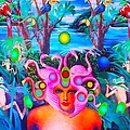 Princess of the Neon Jungle Print by Douglas Fromm