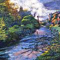 Provence River Print by David Lloyd Glover
