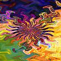 Psychedelic Flower - A Fractal Abstract Poster by Gina Manley