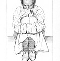 Psychiatric Patient, 19th Century Print by King's College London