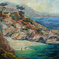 Pt Lobos View Print by Carolyn Jarvis