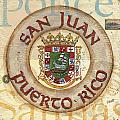 Puerto Rico Coat of Arms Poster by Debbie DeWitt