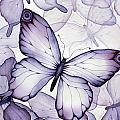 Purple Butterflies Print by Christina Meeusen