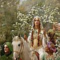 Queen Guinevere Print by John Collier