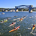 Race on the River Print by Tom and Pat Cory
