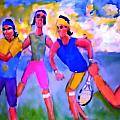 Rafa Tennis at the French Wimbleton and U.S. Open Poster by Stanley Morganstein
