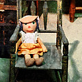 Rag Doll in Chair Print by Susan Savad