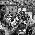 RAILROAD: DINING CAR, 1880 Print by Granger