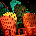 Rainbow Chairs Poster by Joyce Kimble Smith