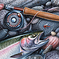 Rainbow Trout Poster by JQ Licensing