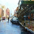 Rainy Afternoon on Amsterdam Avenue Print by Peter Salwen