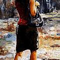Rainy day - Woman of New York 04 Poster by Emerico Imre Toth