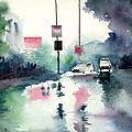Rainy Day Poster by Anil Nene