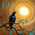 Raven in Dark Autumn Print by Laura Iverson