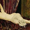 Reclining Nude Poster by Henri Fantin Latour