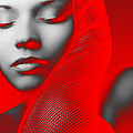 Red Beauty  Poster by Naxart Studio