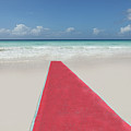 Red Carpet On A Beach Poster by Buena Vista Images