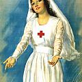 Red Cross Nurse Print by War Is Hell Store