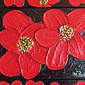 Red flowers Print by Merlene Pozzi
