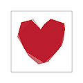 Red Heart 2 Print by Glennis Siverson