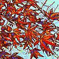 Red Leaves Print by Nadi Spencer