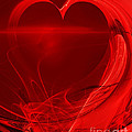 Red Love . A120423.279 Poster by Wingsdomain Art and Photography