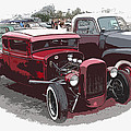 Red Model A Coupe Poster by Steve McKinzie