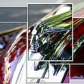 Red Pontiac Hood Ornament Print by Cathie Tyler